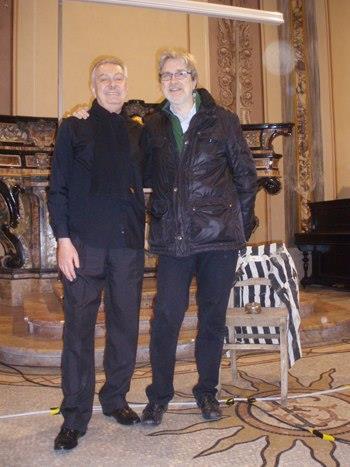 Renzo Bellardone con il Maestro Massimo Viazzo.