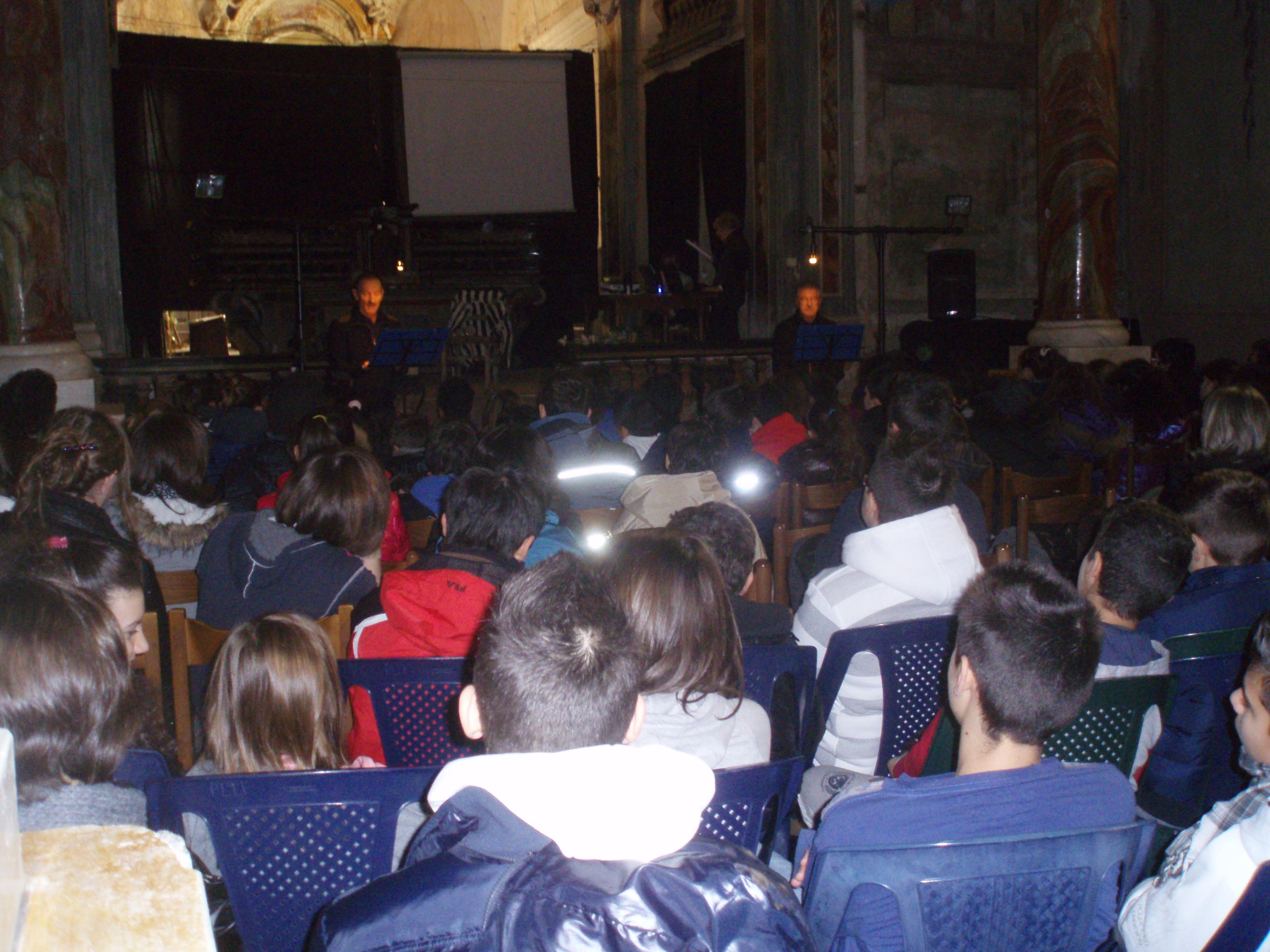 Auditorium SS.Trinità (1600) con gli studenti delle Scuole Medie