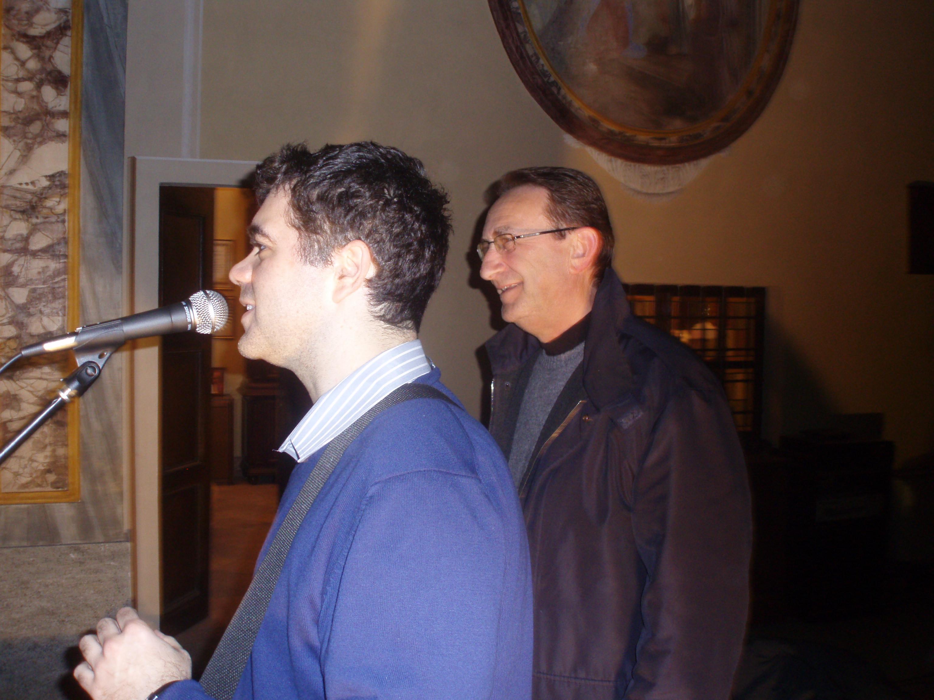 Aldo Barosso e Mario Enrico, sindaco di Borgo d'Ale