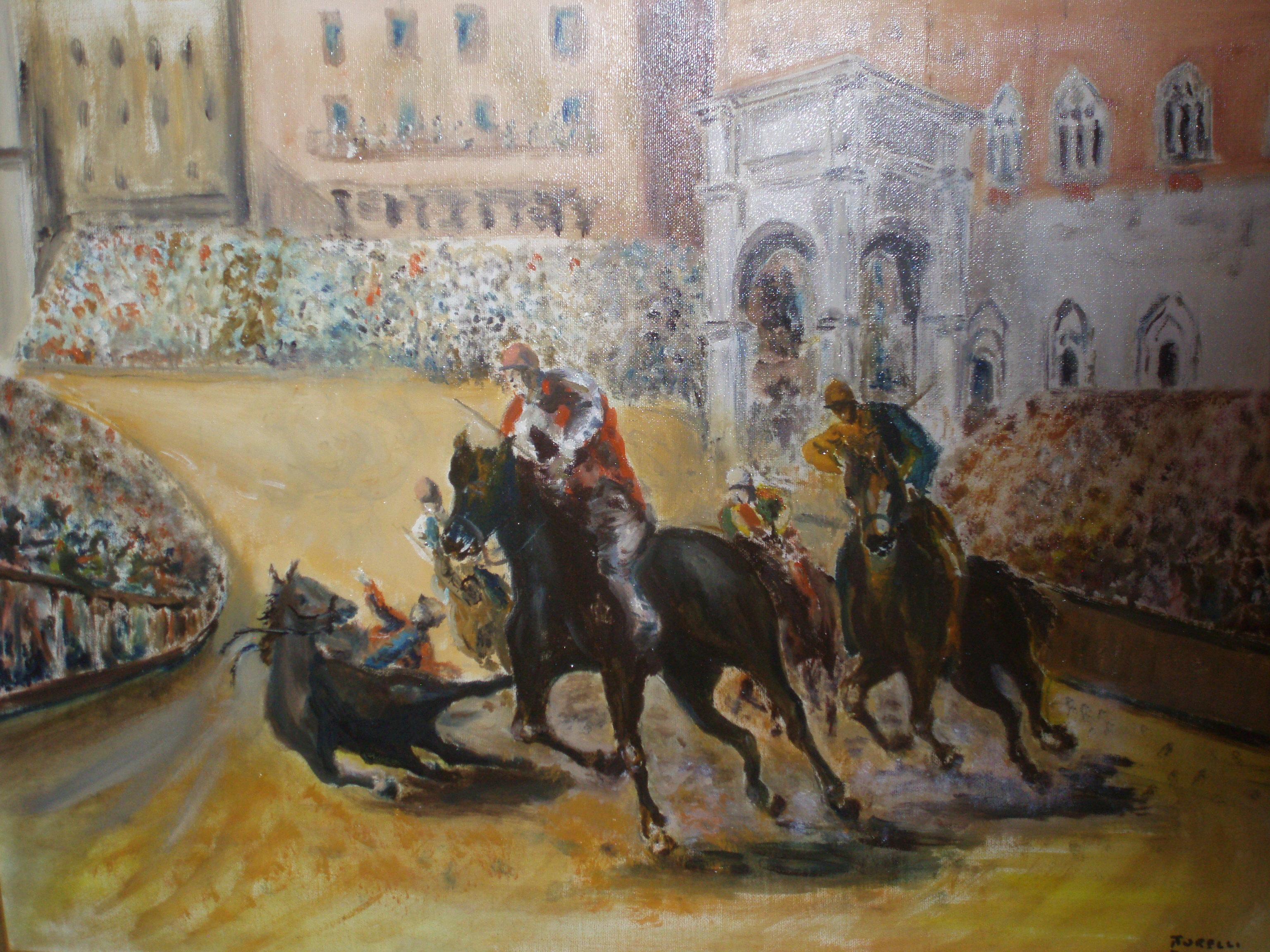 Dipinto di Luciano Torelli a'Voce Agli Artisti' 30.10.2011-Alice Castello