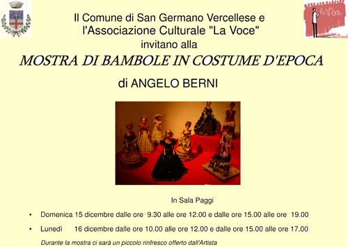 Mostra Bambole di Angelo Berni a San Germano. dicembre 2013