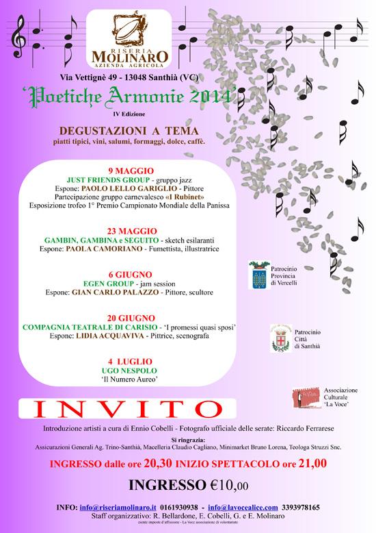 Invito poetiche armonie 2014