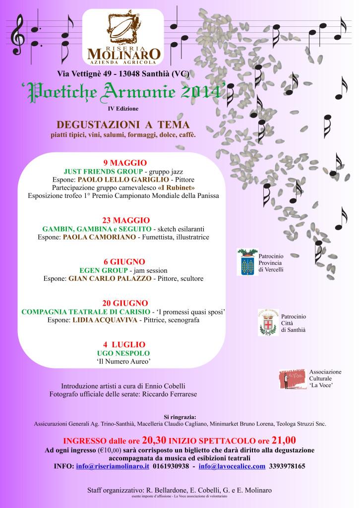 Locandina poetiche armonie 2014